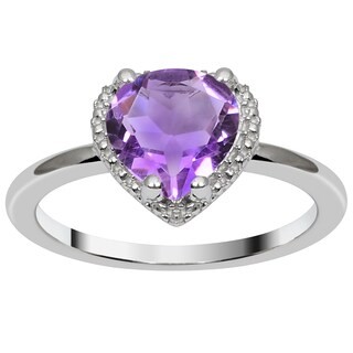 Orchid jewelry's 1.56CTTW genuine Amethyst st. silver ring