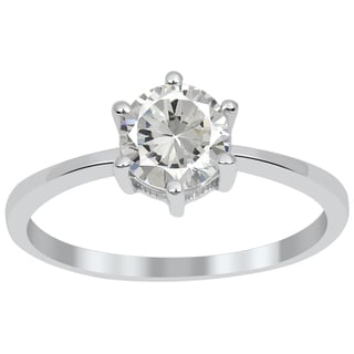 Orchid Jewelry 1.00 CTW genuine White topaz sterling silver ring