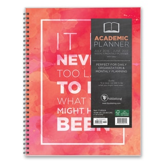 Never Too Late 12-month 2017 Academic Planner