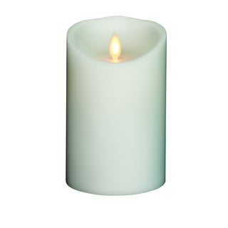 Torchier White Unscented Wax 3.5-inch x 5-inch Flameless Pillar Candle