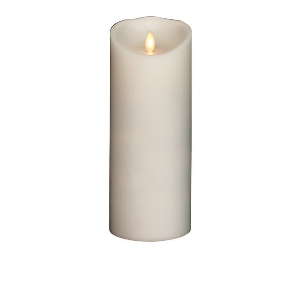 Torchier White Wax Unscented Flameless Pillar Candle
