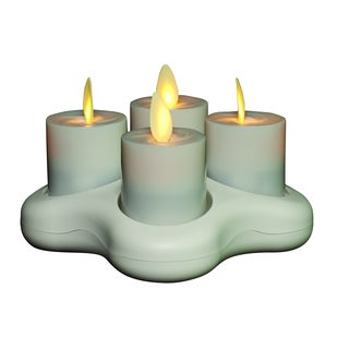 Torchier Off-white Plastic 1.6-inch Rechargeable 4-light Votive with Base