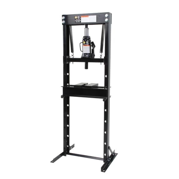 Omega 60120 12-ton Shop Press with Hydraulic Bottle Jack