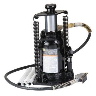 Omega 18206C 20-ton Black Hydraulic Air/Manual Bottle Jack with Return Springs