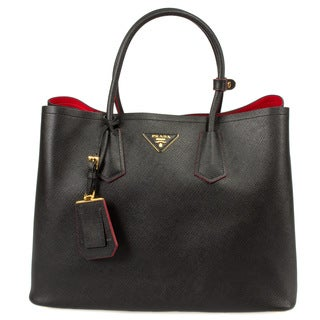 Prada Saffiano Leather Double Bag 1BG756