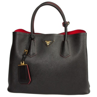 red and black prada purse