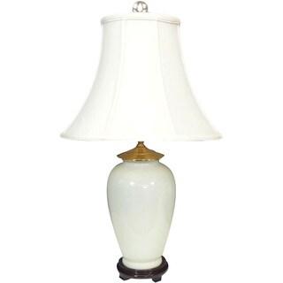 White Porcelain Silk 1-light Table Lamp