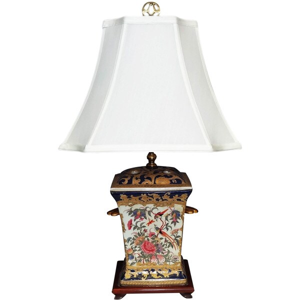 Royal Medallion Incense Holder Porcelain Lamp