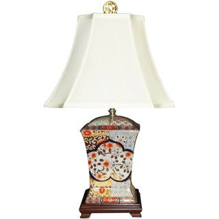 Gold Nippon Imari Multicolor Porcelain 1-light Table Lamp