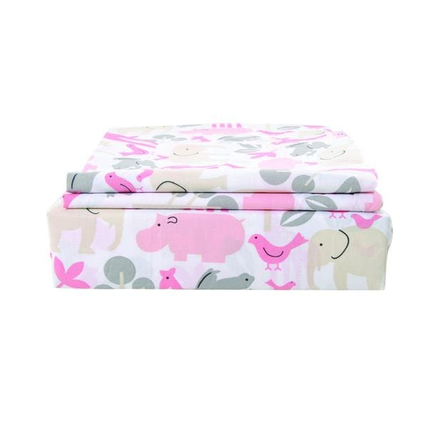 Sheet Set-200 Thread Count Cotton sheet Set / Printed / Hippo