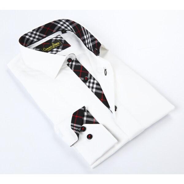 Banana Lemon Classic White/Black Button-up Dress Shirt