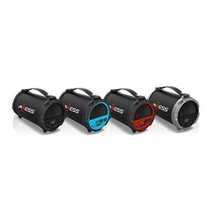 Axess Red HIFI Bluetooth 4-inch Subwoofer/Vibrating Disk 2.1 Speaker