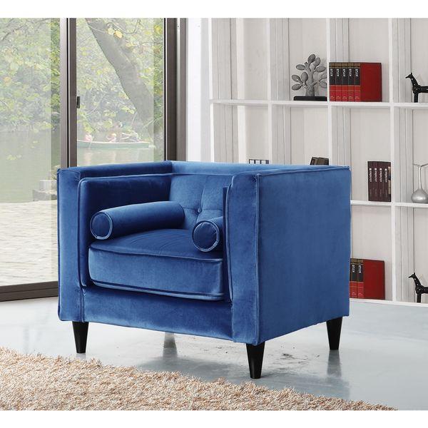 Meridian Taylor Light Blue Velvet Chair