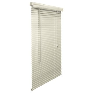 Alabaster Vinyl/PVC 1-inch, 71-inch to 78-inch-wide Blinds