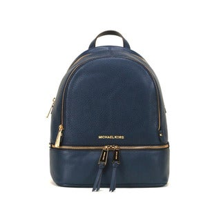 Michael Kors Navy Rhea Zip Small Fashion Backpack