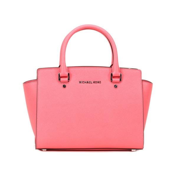 Michael Kors Coral Selma Medium Top Zip Satchel Handbag