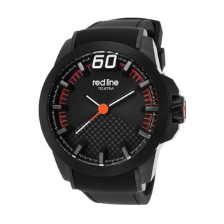 Red Line Men's Black Silicone Watch