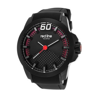 Red Line Men's Black Zone Black Ion-plated Stainless Steel Silicone Watch