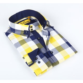 Brio Mens Multi Plaid Dress Shirt
