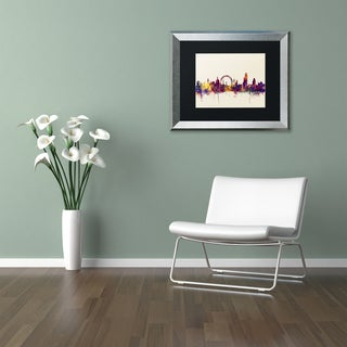 Michael Tompsett 'London England Skyline' Matted Framed Art