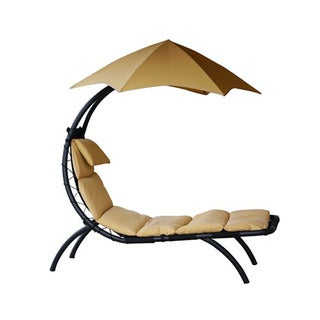 Vivere Brown Polyester Outdoor Patio Original Dream Lounger