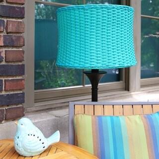 Outdoor Basketweave Floor Lamp
