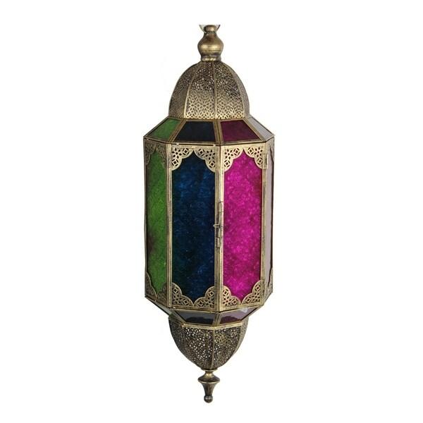 Antique-style Goldtone Metal Lantern 19300574