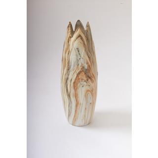 Dark Marble Ceramic 7-inch x 21-inch Table Vase