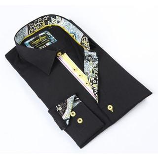 Banana Lemon Classic Button-down Black Dress Shirt