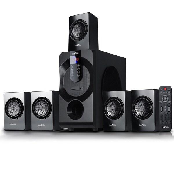 beFree Sound Black Surround Sound 5.1-channel Bluetooth Speaker System