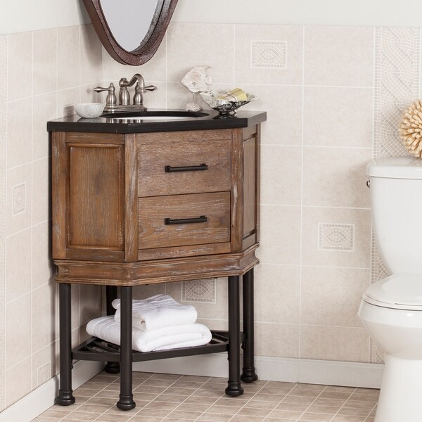 Harper Blvd Ballard Granite Top Corner Bath Vanity Sink 19301313