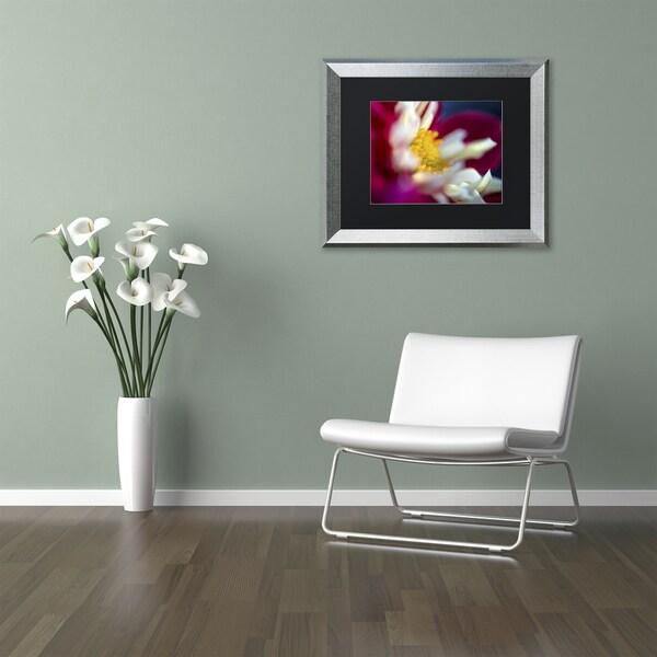 Kurt Shaffer 'A Different Kind of Dahlia' Matted Framed Art