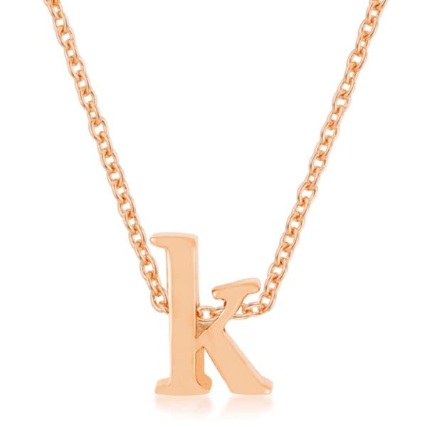 Kate Bissett 18k Rose Gold Finish Initial K Pendant
