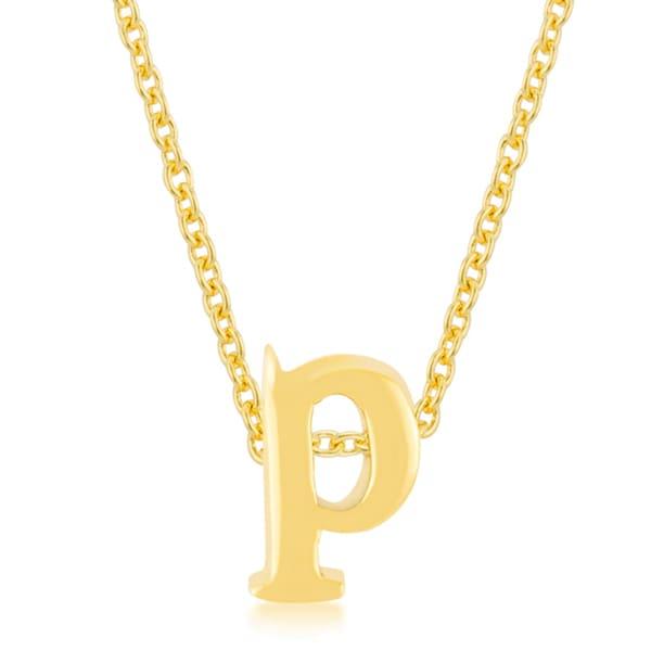 Kate Bissett Golden Brass Initial P Pendant