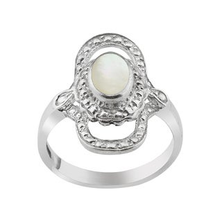 Haven Park Mother of Pearl Halo Ring