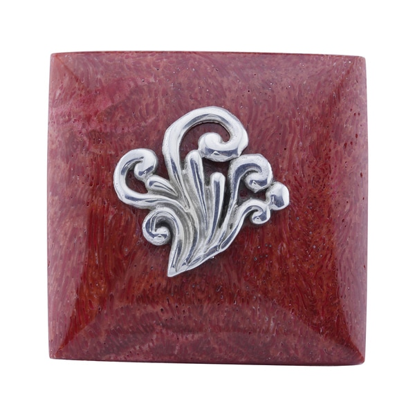 Haven Park Red Coral Square Statement Ring