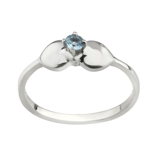 Haven Park Blue Topaz Solitaire Ring