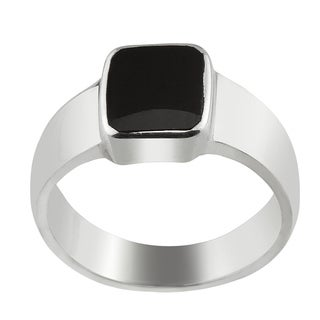 Haven Park Inlayed Black Onyx Ring