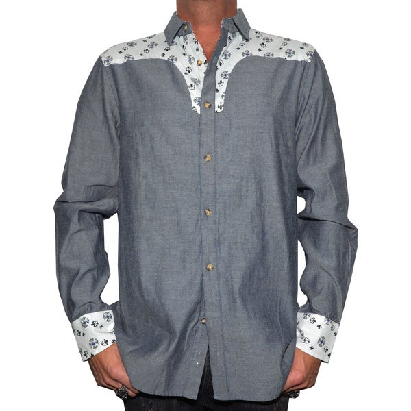 Rock Roll N Soul Men's 'Stars of the west' Western Woven Shirt