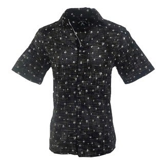 Rock Roll N Soul Men's 'Heads are Gonna Roll' Casual Button-up Fashion Cotton Woven Shirt