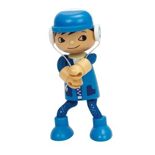 Hape Blue Wood Doll Son Toy