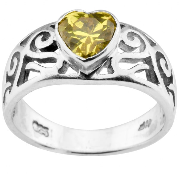 Haven Park Yellow Heart Shape Midi Ring