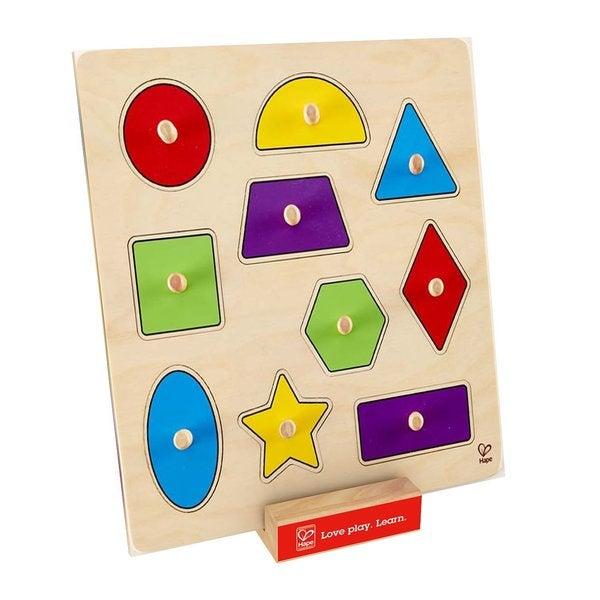 Hape Geometric Shapes Knob Puzzle 19304372