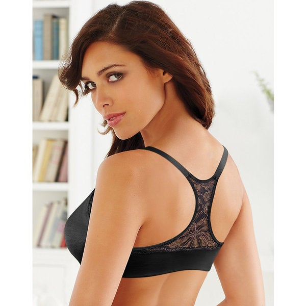 Lilyette by Bali Women's Lift and Smooth Elastane/Nylon Front-close T-back Bra