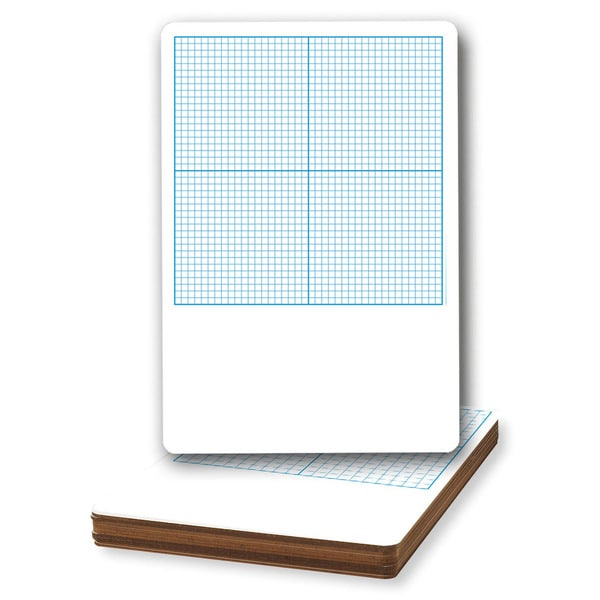 Flipside Dry-erase Graph Boards (Pack of 12)