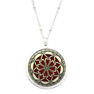 """""""Unique"""" Two-tone Gold and Silver Twist Open Stainless Steel Oil Diffuser Necklace"""