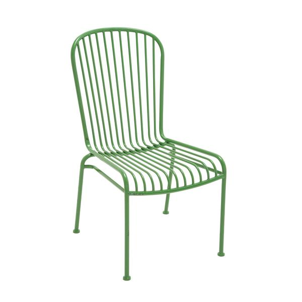 Evergreen Green Metal Chair