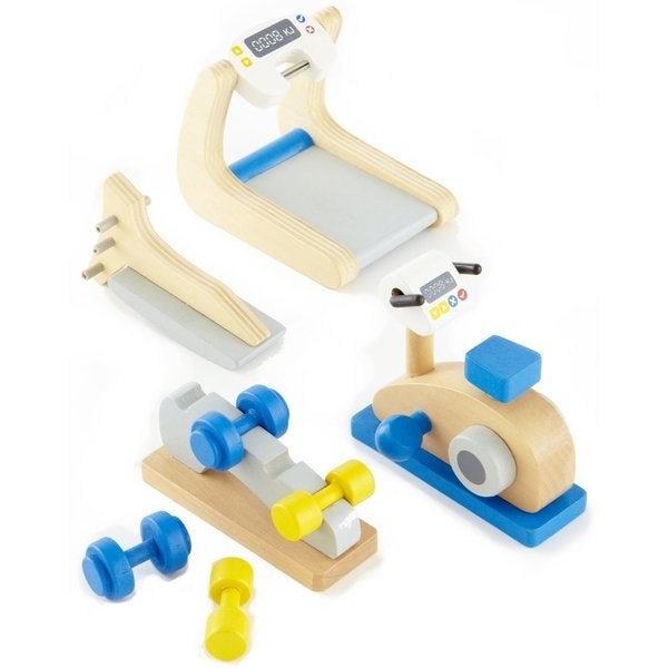 Hape Happy Family Doll House Furniture Home Gym Playset