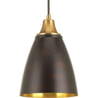 Progress Lighting Pure Brown Steel 1-light LED Pendant Fixture