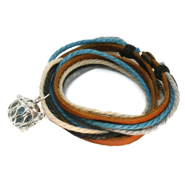 'Seaside' Leather Wrap Diffuser Bracelet/ Choker Necklace